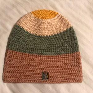 L.A.M.B Gwen Stefani knit cotton beanie green tan